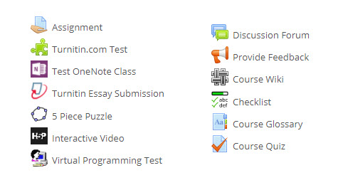 moodle activities